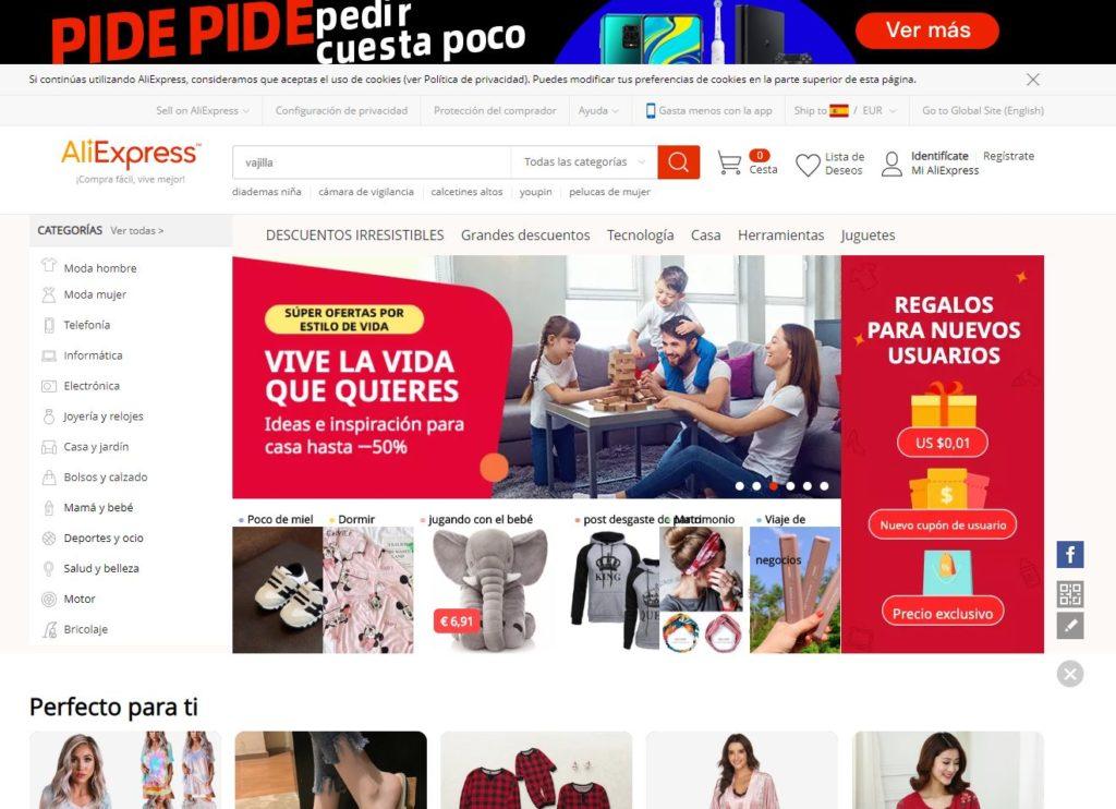 Tienda online Aliexpress